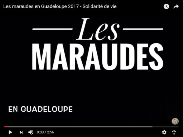 Les maraudes en Guadeloupe - 2017